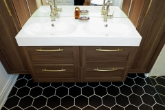 Toronto Condo Renovation Bathroom with hex tiles