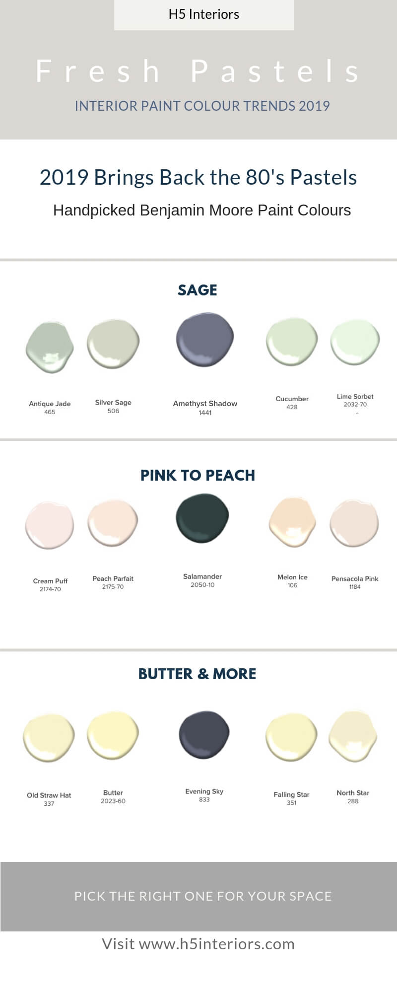 2019 Paint Colour Trends - 3 Ready to Use Palettes - H5