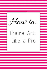 Learn how to frame art like a pro