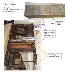 china cabinet, vintage, blah, refinished