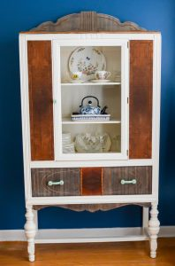 China Cabinet makeover wood, modern, eclectic