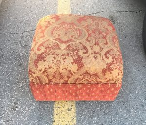 ottoman, red fabric, traditional
